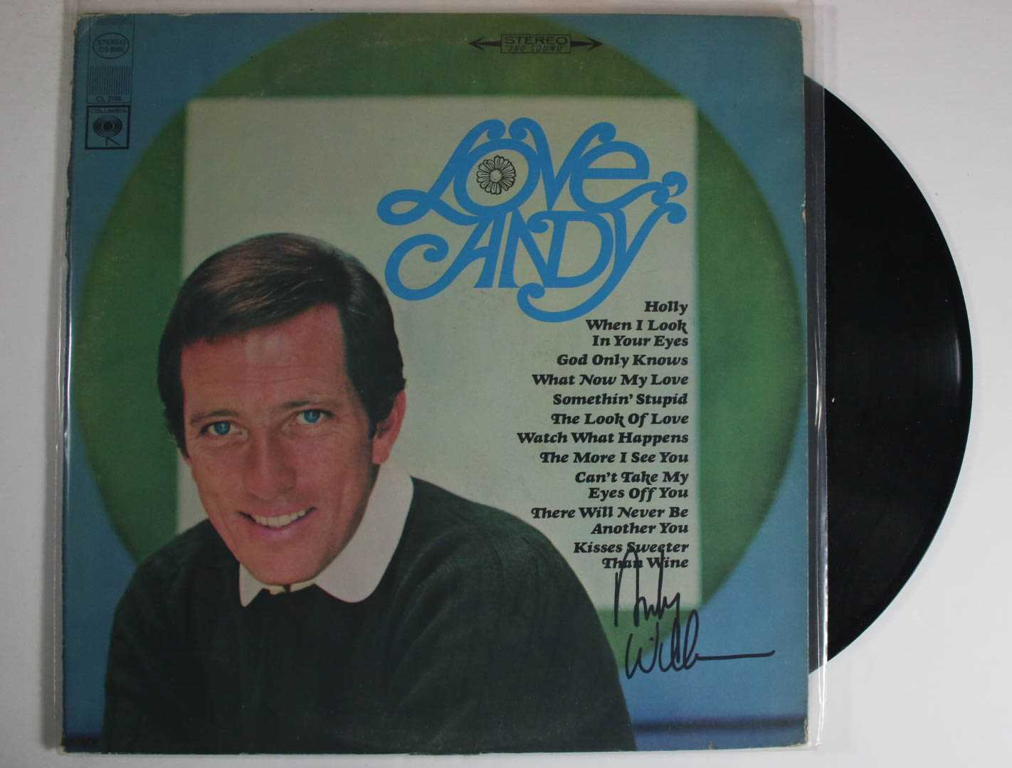 "Primary image for Andy Williams (d. 2011) Signed Autographed ""Love Andy"" Record Album"
