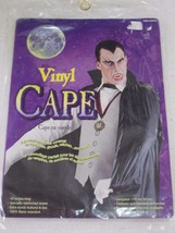 "Black Adult Vinyl Vampire Costume Cape 45"" New - $6.99"