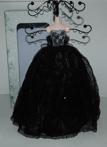 Jewelry Holder black lace dress lady NIB 051786910 holds rings bracelets earring