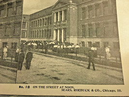 Vintage Stereoscope Card Sears & Roebuck #18 in Series On the Street at ... - $4.89