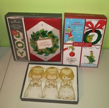 Lot of 48 Hallmark Hanging Cards Angels Christmas Wreath Glitter Grinch Holiday - $27.71