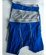 Hanes Boys 3 Pack Boxer Briefs - Size XL 14-16 Blue Gray New No Packaging - $5.89