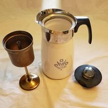 Vintage Owen Corning Ware Corn Flower Blue 10 Cup Percolator Stove Top  ... - $27.12