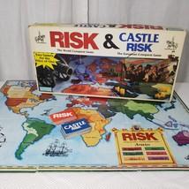 Risk & Castle Risk Board Game 1990 Parker Brothers Vintage Complete - $28.87