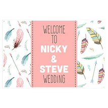 Feather Wedding Sign - Personalized Welcome to Our Wedding Poster - $15.35