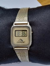 Jordache vintage digital gold tone small size quartz women's watch - $11.29
