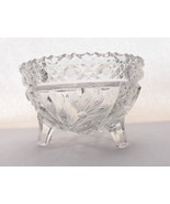 Glass Footed Bowl with Floral and Rick Rack Design - $19.99