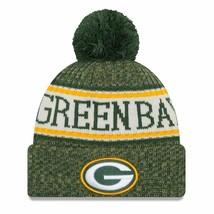 Green Bay Packers New Era Knit Hat On Field 2018 Sideline Beanie Warm Wi... - $14.74