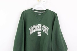 Vintage 90s Champion Mens Large Michigan State University Spell Out Sweatshirt image 2