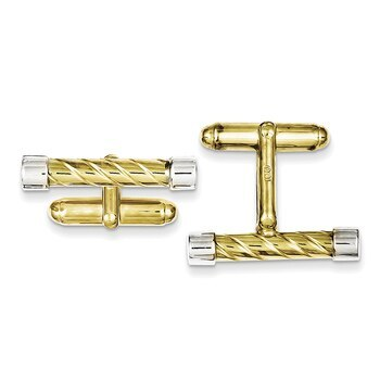 Primary image for Lex & Lu Sterling Silver & Vermeil Bar Cuff Links