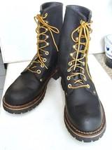"""GREAT LOOKING """"GEORGIE BOOTS"""" MEN'S BLACK STEEL TOE BOOTS """"SUPER NICE"""" - $123.75"""