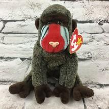 Ty Beanie Babies Cheeks Babbuino Peluche Scimmia Raro Ritirato da Collezione Vtg - $22.27