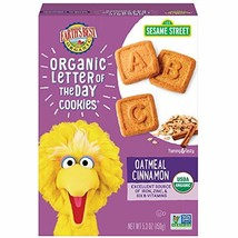Earth's Best Organic Sesame Street Toddler Letter of the Day Cookies, Oatmeal Ci