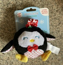 Magic Years Baby Infant Plush Holiday Rattle Jingles Chimes Penguin crib... - $3.99
