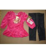 Juicy Couture Baby Legging 2 Piece Set Haphazard 18-24 months - $39.59