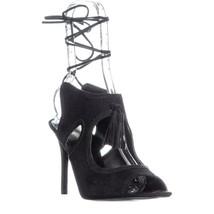 Nine West Maisie Corte Vestido de Encaje Sandalias, Negro, US 9.5 - $74.38