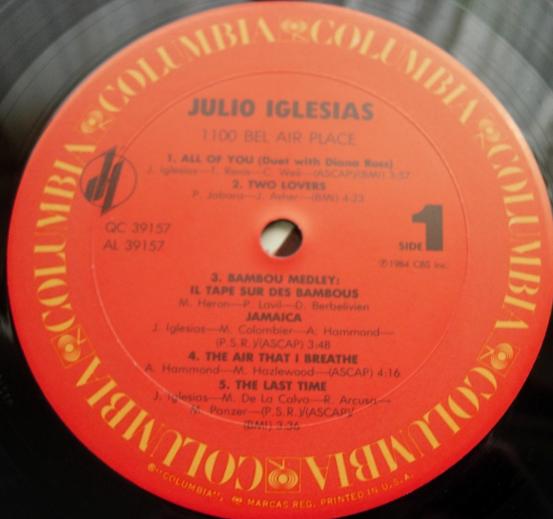Julio Iglesias - 1100 Bel Air Place - Columbia QC 39157