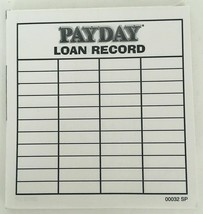 Payday 1994 Partial Loan Record Pad Replacement Game Part Piece Vtg Scor... - $6.92