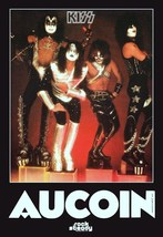 KISS Rock Band AUCOIN '77 Music Industry Trade Ad Reproduction Stand-Up ... - $16.99