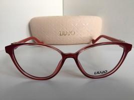 New LIU JO LJ 2618 615 Polished Red 53mm Rx Cats Eye Women's Eyeglasses ... - $127.49