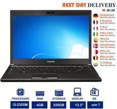"""Toshiba Portege R830 13.3"""" Laptop Intel i3 2.3Ghz 4GB RAM 320GB HDD Wind... - $167.79"""