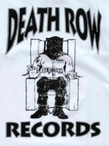 Authentic Men's Death Row Records Black Official Logo Licensed T-Shirt White S image 2