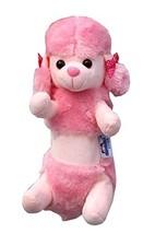 Cute Plush Makeup Storage Bag Pink Poodle Pencil Case - $16.78