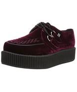 T.U.K. Shoes V8463 Unisex-Adult Creepers, Burgundy Velvet Creepers - US:... - $80.01