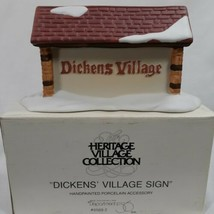 Dept 56 The Heritage Village Collection Dickens' Village Sign 65692 Chri... - $12.19