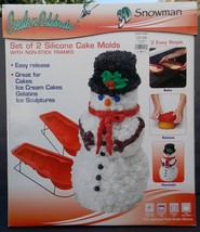 Create N Celebrate 3D Silicone Baking Pan SNOWMAN Cakes Jello Ice Cream ... - $14.20