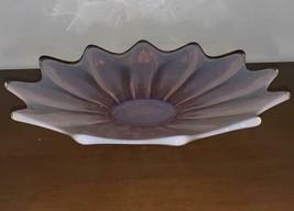 Vintage Pink Opalescent Art Glass Bowl - $34.65