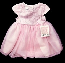 Bonnie Baby Girl/Toddler's SS Pink Tulle Ballerina Dress Size 18Months - $25.73