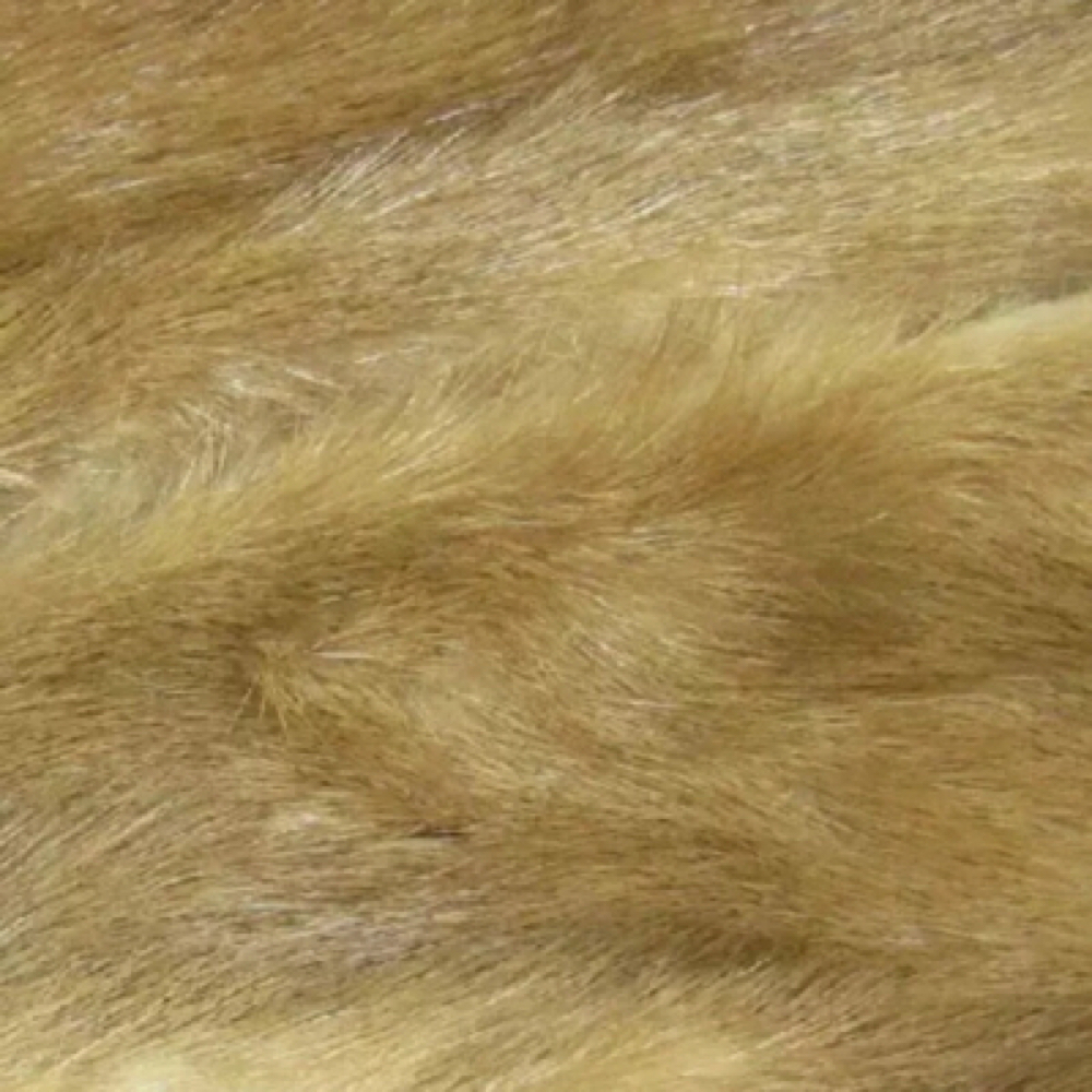 Light Brown Mink Fur Scrap For DIY