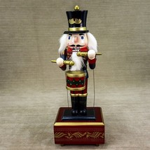 Drummer Wood Nutcracker Band Figure Wired to Move on Musical Base for Parts - $28.91