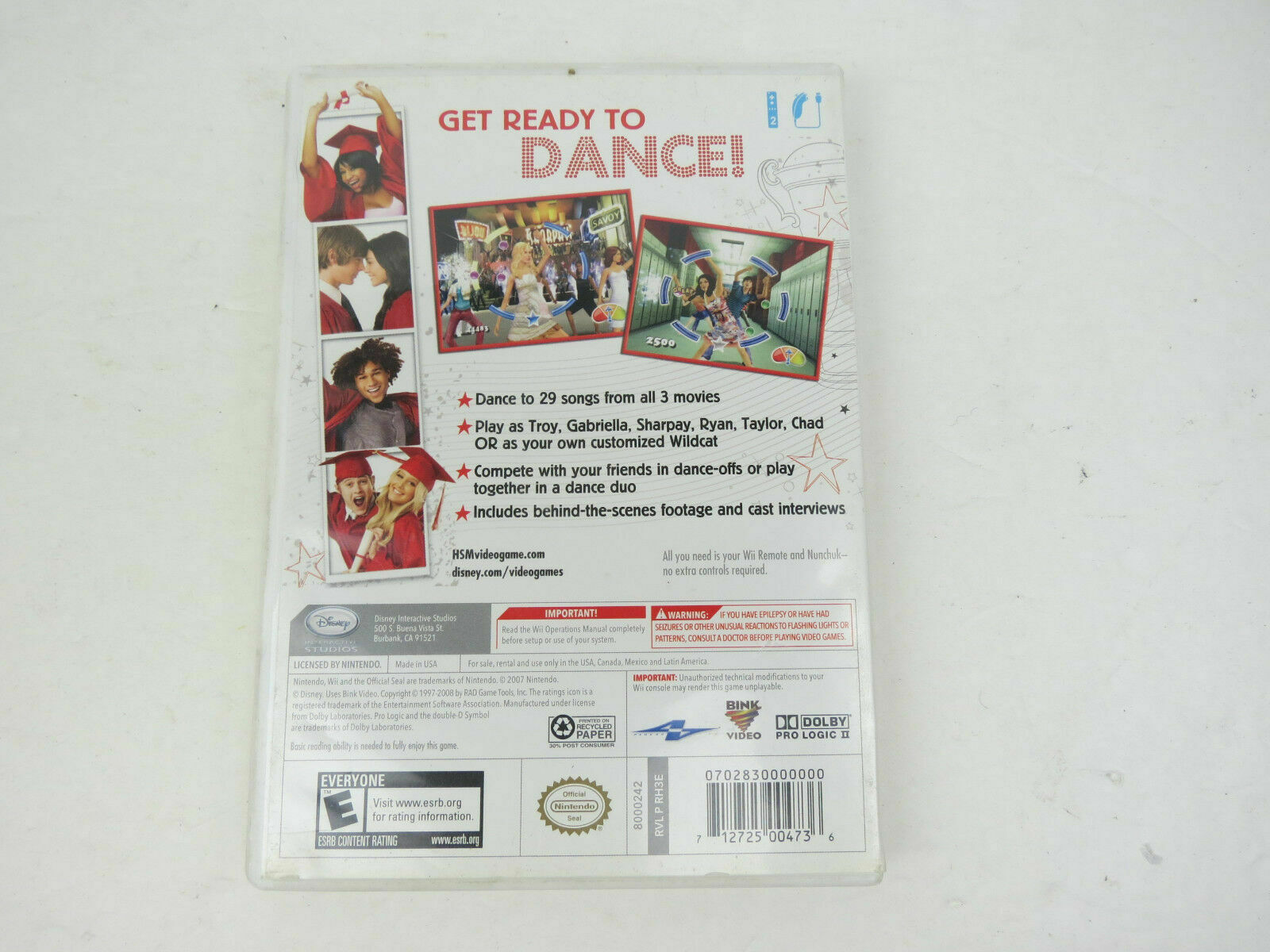 High School Musical 3: Senior Year Dance (Nintendo Wii, 2008)  NEW