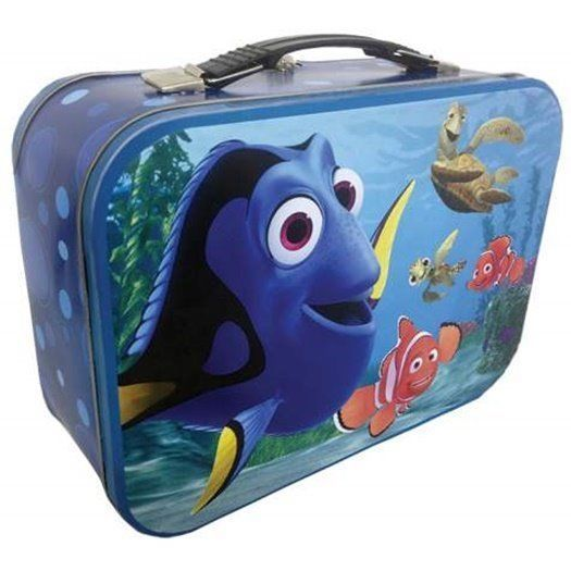 Walt Disney's Finiding Nemo Dory Large Carry All Tin Tote Lunchbox, NEW UNUSED