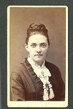 Victorian Woman Braided Bun Hairstyle Eloquent Tassles Fashion Carte de ... - $14.99
