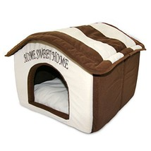 """Portable Indoor Pet House (Brown Stripes (16"""" X 16"""")) - $39.86"""