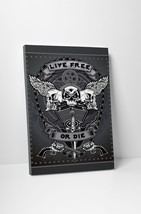 "Live Free or Die Motorcycle Art Gallery Wrapped Canvas Print. 30""x20 or ... - $42.52+"