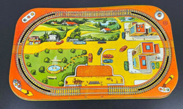 Marx Metal Wind Up Tin Lithograph Train Layout 1950's Vintage RARER Vers... - $88.88
