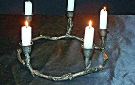 Circular Piece CandleHolder for 5 Candles AA20-2157 Vintage image 2