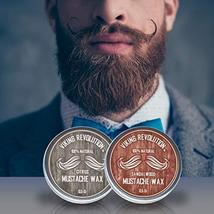 Mustache Wax 2 Pack - Beard & Moustache Wax for Men - Strong Hold Helps Train Ta image 7
