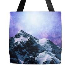 Tote bag All over print Design 59 mountains sky stars blue purple L.Dumas - $29.99+