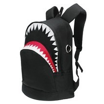 3D Shark Canvas Backpack Kids Book Bag School Backpack for Teen Girls Bo... - $27.99