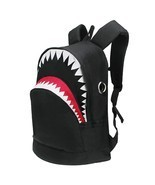 3D Shark Canvas Backpack Kids Book Bag School Backpack for Teen Girls Bo... - $27.99