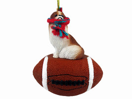 Japanese Chin Red & White Football Ornament - $17.99