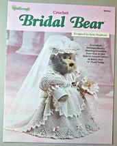 Bridal Bear Heirloom Crochet Wedding Ensemble for 13 inch teddy - $4.90