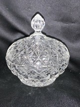 Vintage American Fostoria Glass Crystal Covered Candy Dish - $24.00