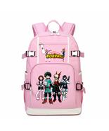 My Hero Academia Kid Backpack Schoolbag Bookbag Daypack Pink Large Bag A - $36.99