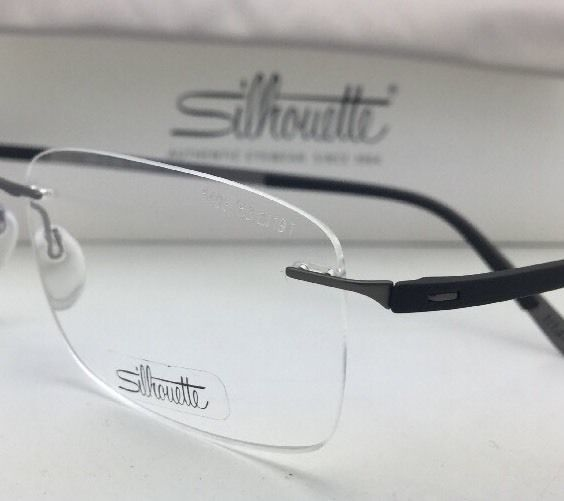New SILHOUETTE Eyeglasses 5409 60 6063 53-19 Matte Gunmetal-Black Rimless Frame